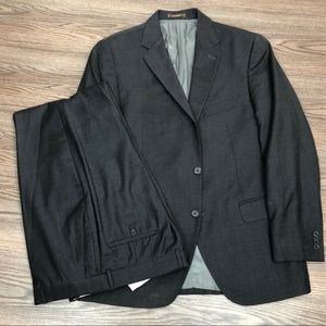 Peter Millar Solid Charcoal Grey Suit 42R